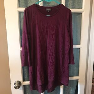 Plum 3/4 sleeve tunic
